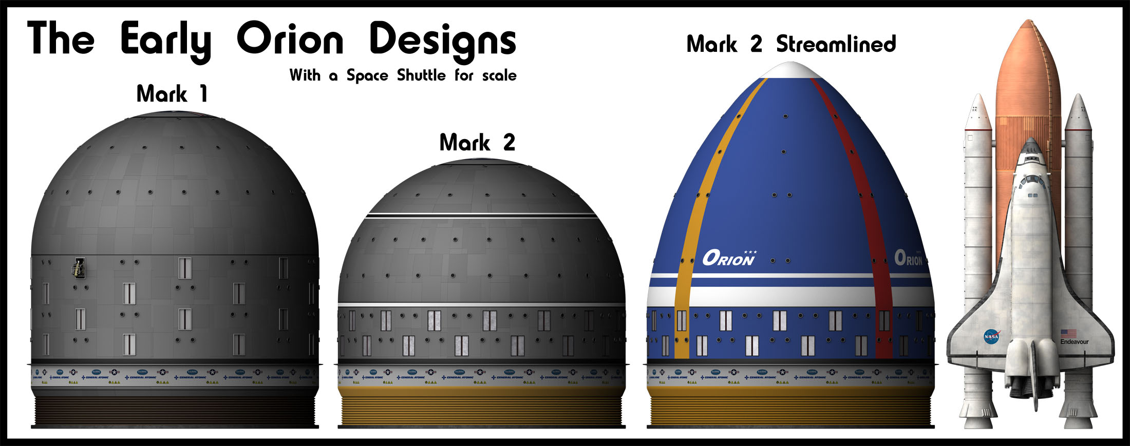 Orion Nuclear Pulse Spacecraft - Pics about space