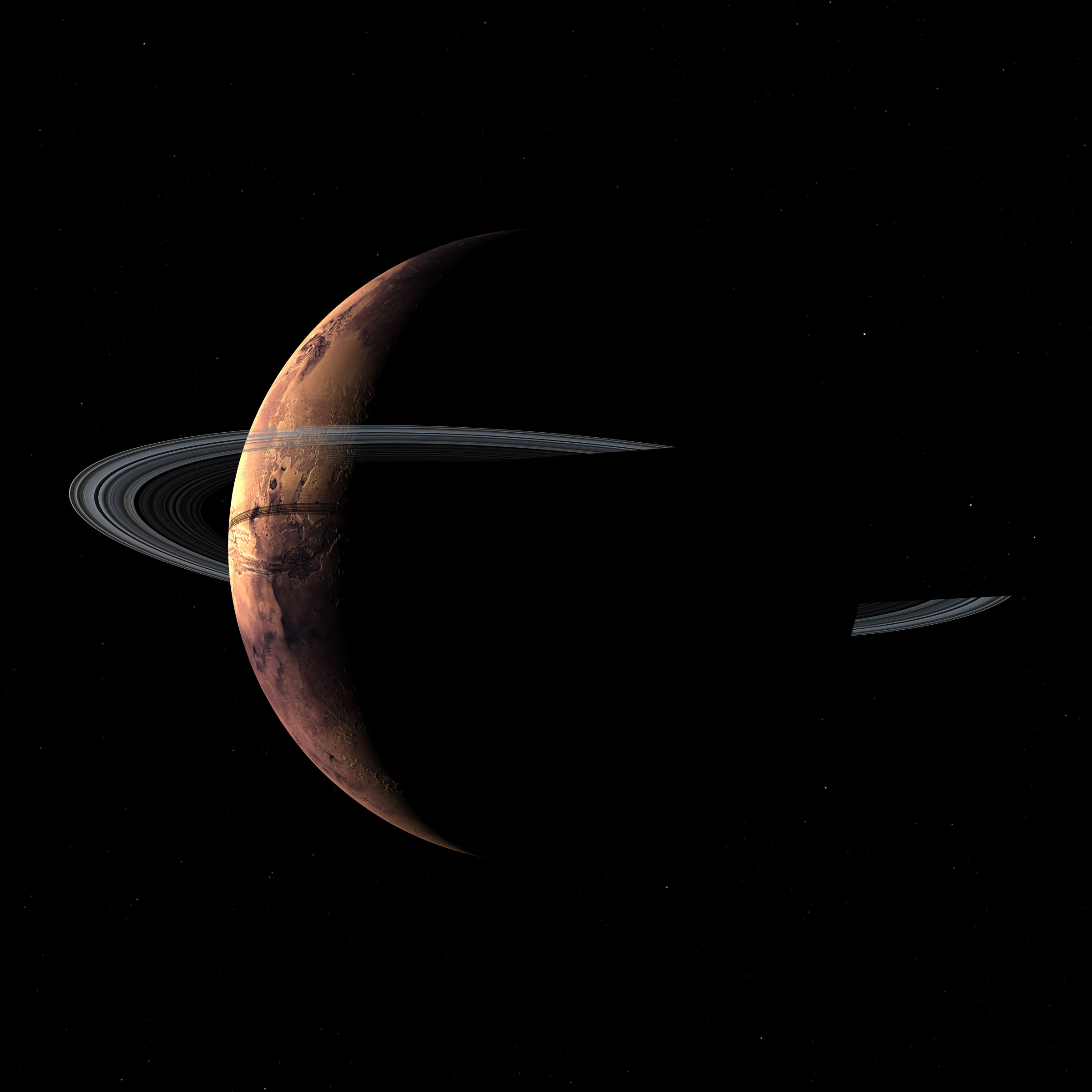 mars planets of the rings - photo #45