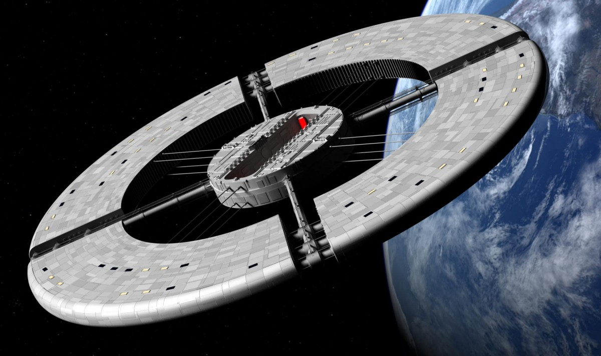 Work in Progress – Alternate design for 2001 A Space Odyssey wheel station.