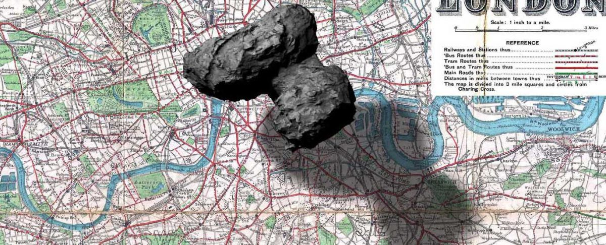 Comet 67P Churyumov–Gerasimenko over London