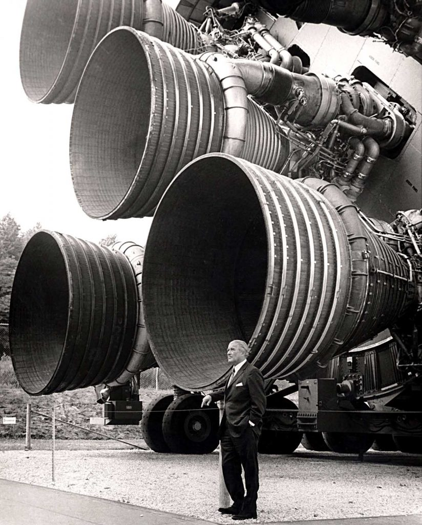 Wernher von Brain and the Saturn V rocket