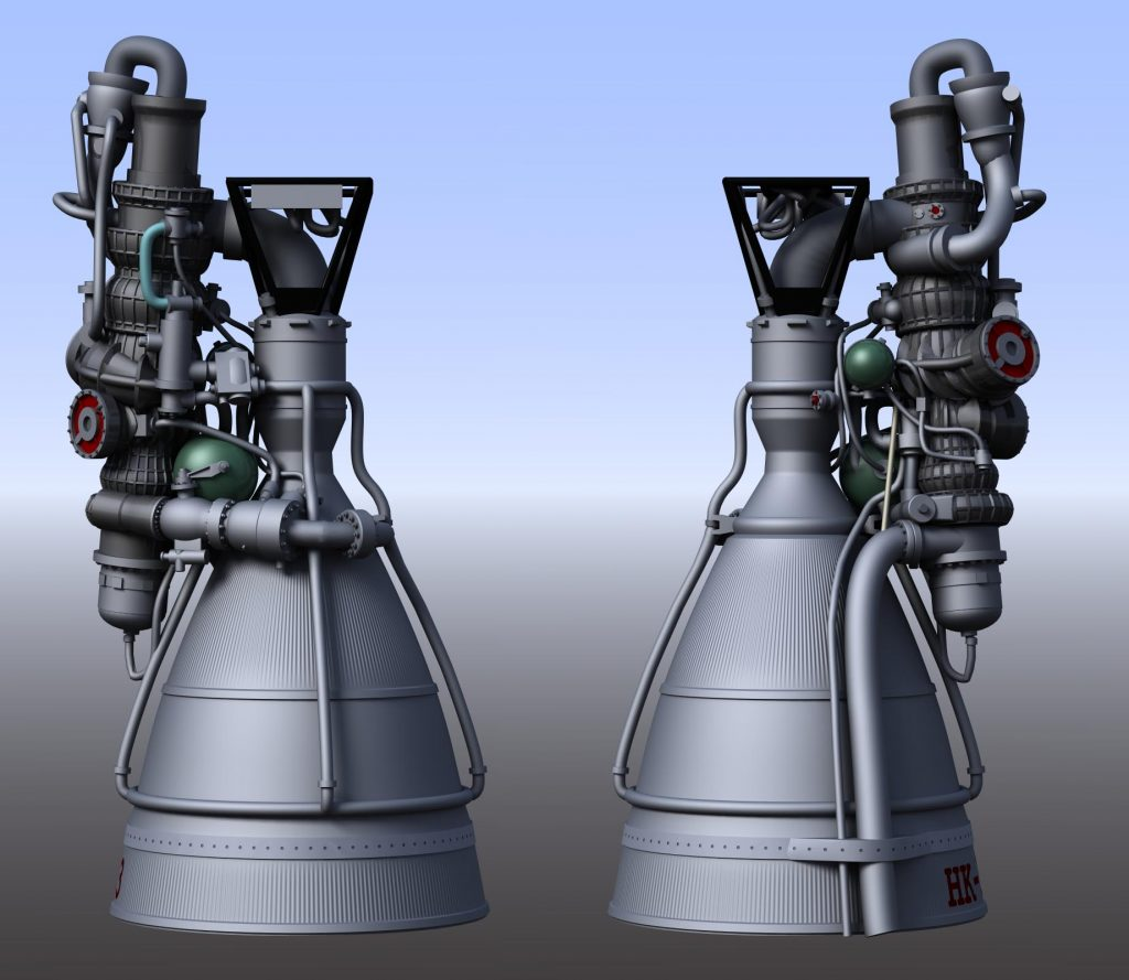 CGI NK-33 rocket engine