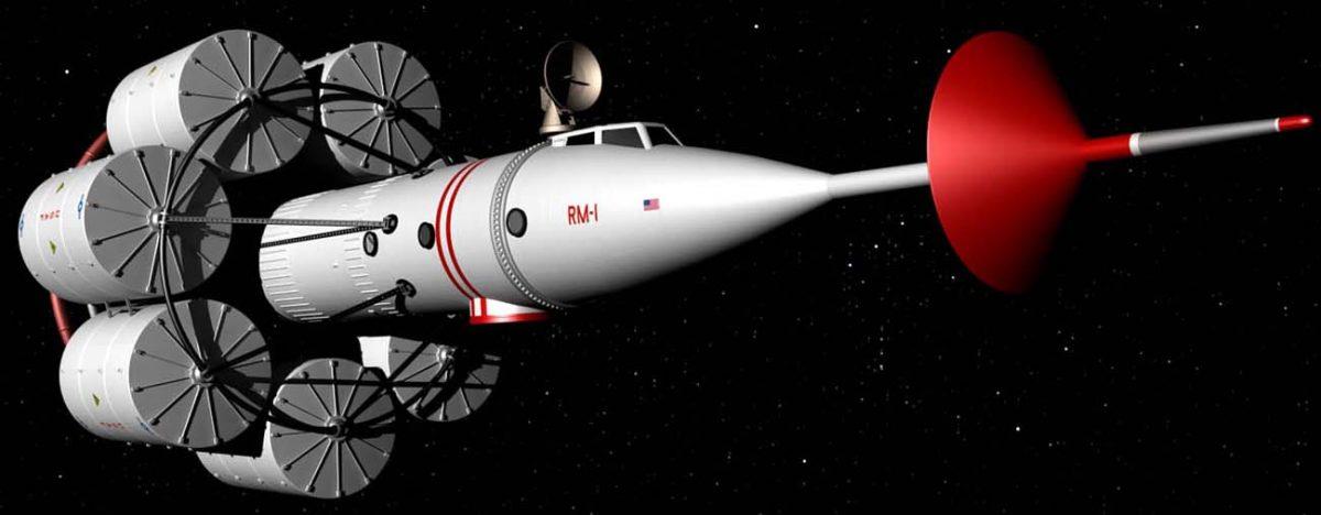 Wernher von Braun's RM-1 spaceship design