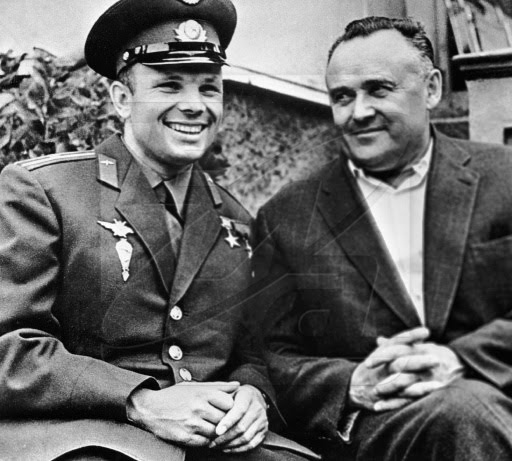 Sergei Korolev and Yuri Gagarin