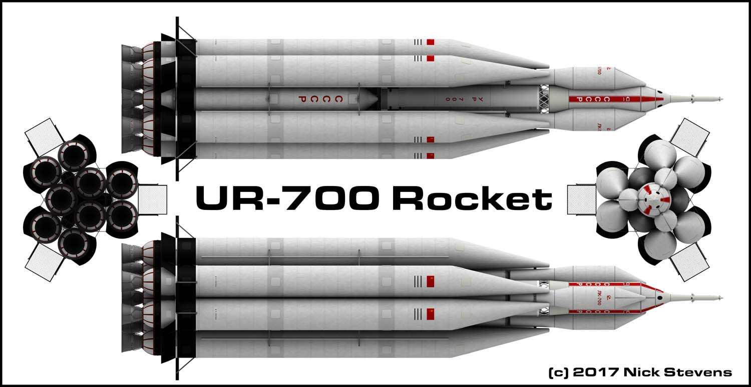 UR-700 Rocket, ortho views