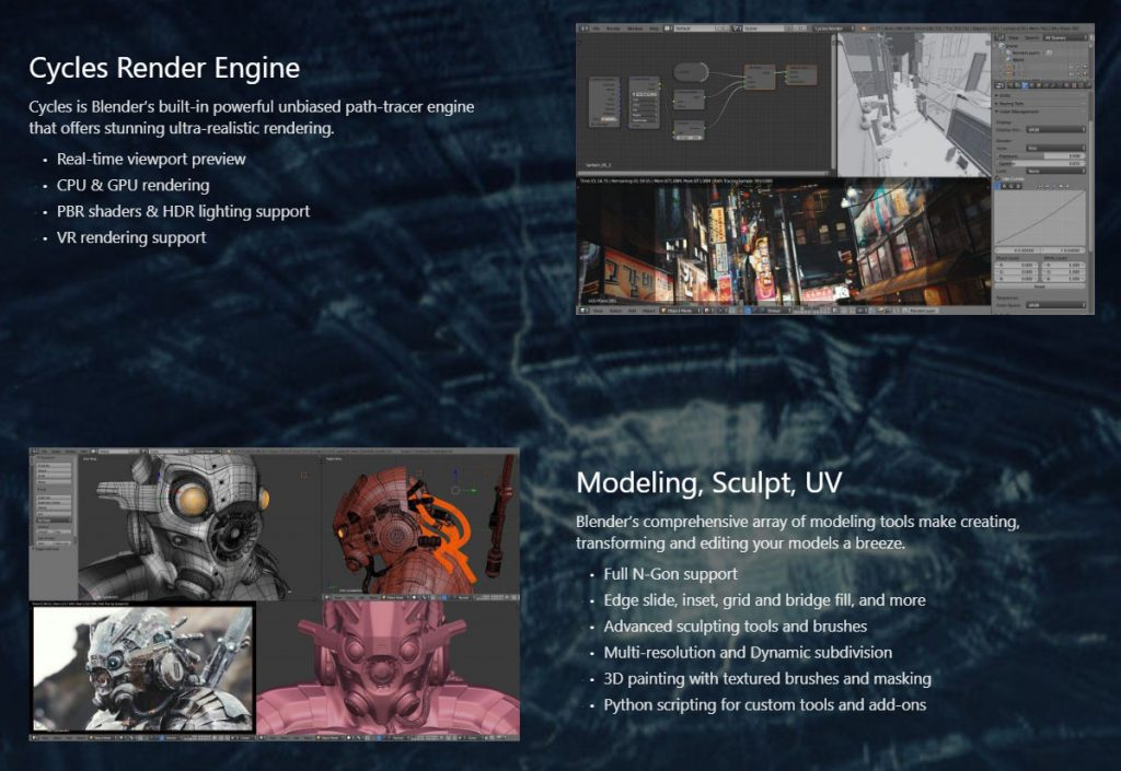 Blender Website Screenshot