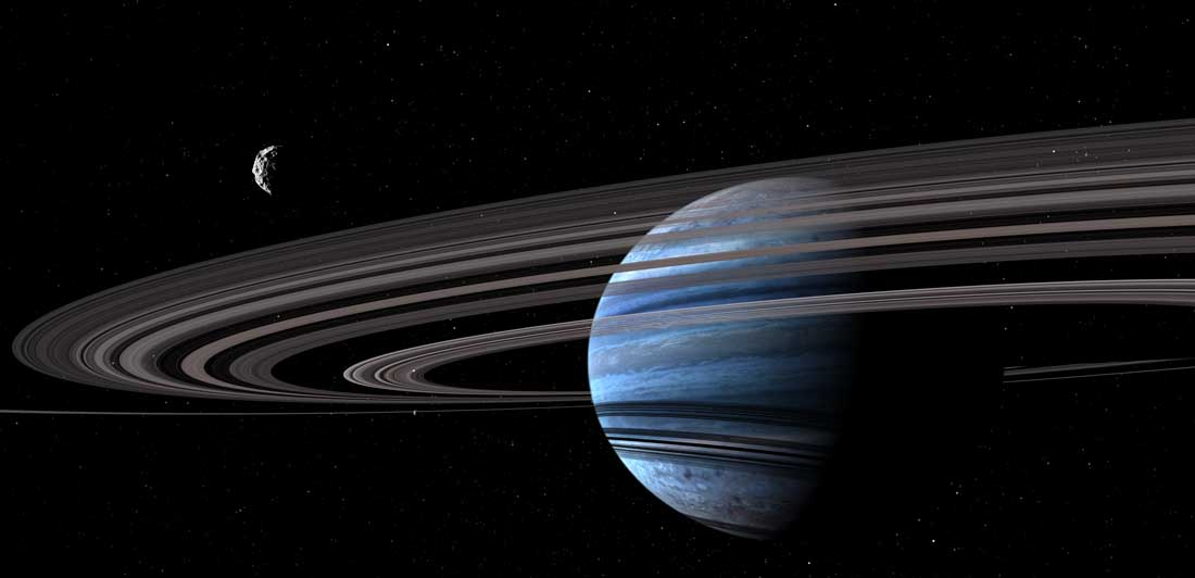 Exoplanet through rings