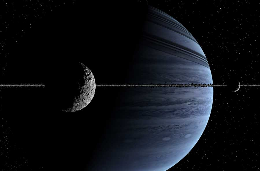 At the edge of the rings