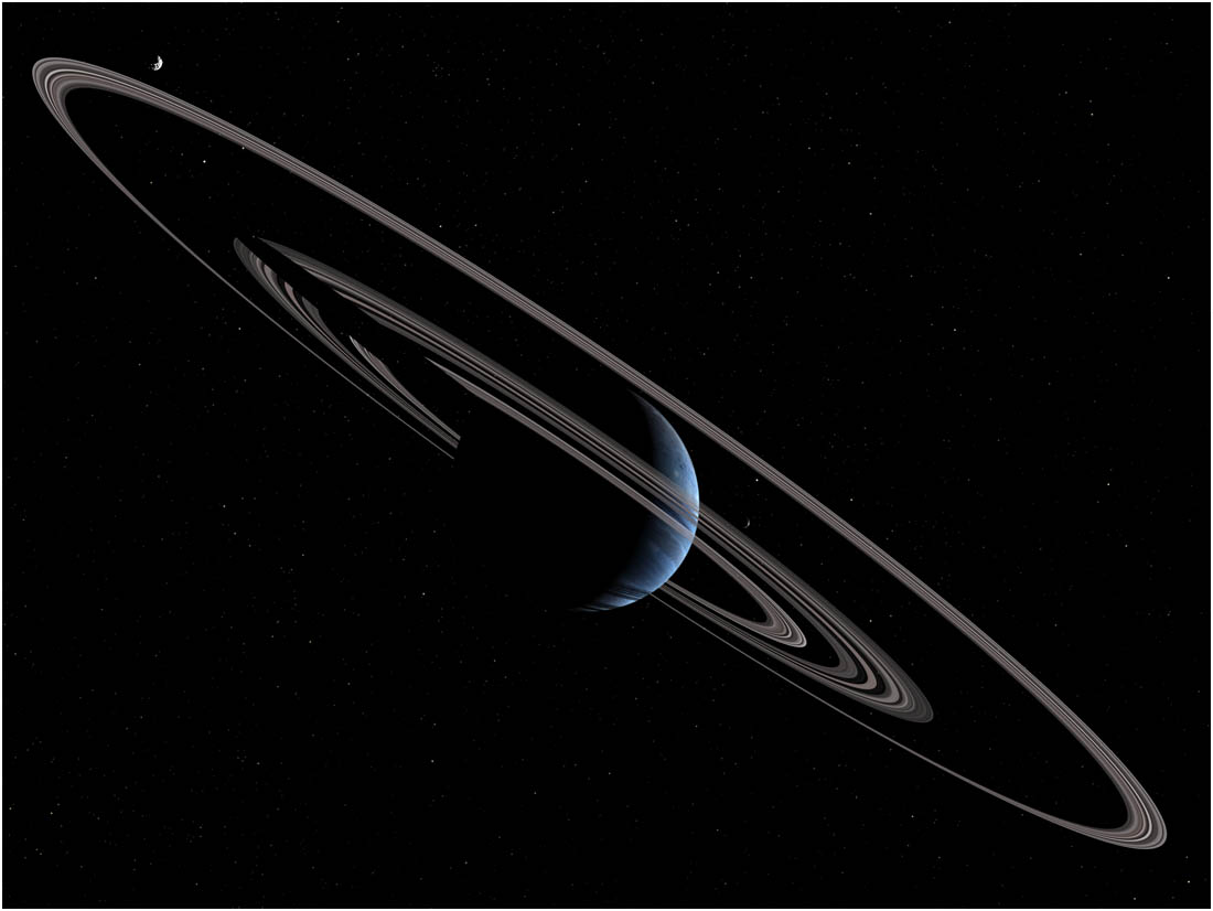 Pseudo-Jupiter exoplanet with rings