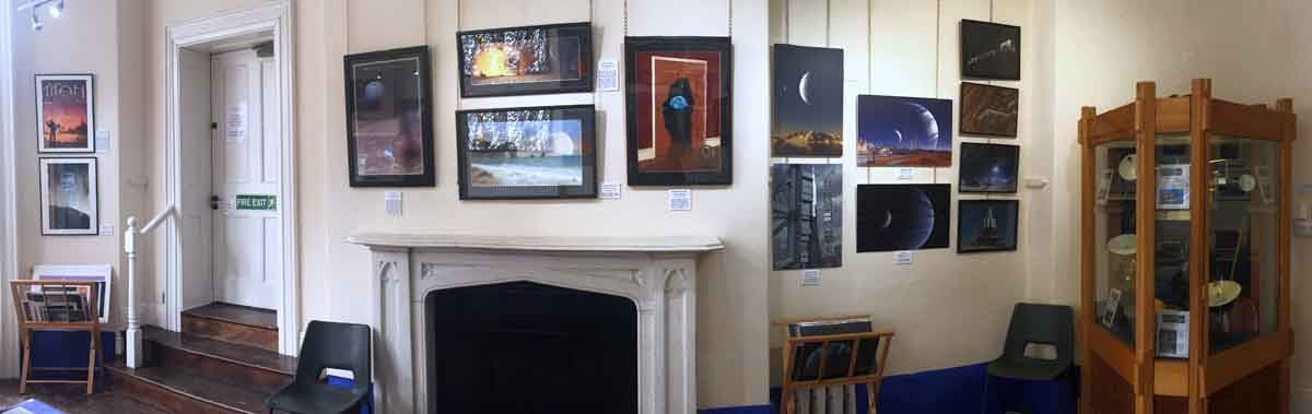 Panorama of my bit of the exhibition