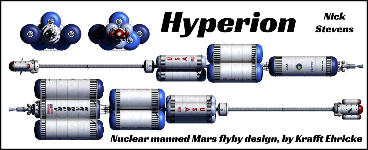 Krafft Ehricke's Hyperion, a manned nuclear Mars mission