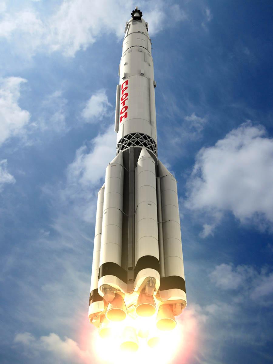 Proton Rocket Ascending