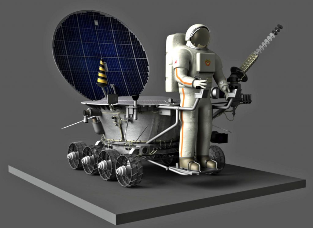 Cosmonaut carrying version of the Lunokhod