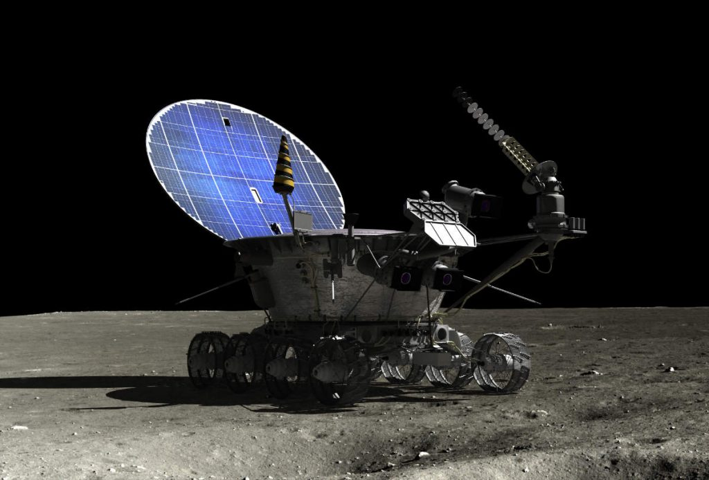 CGI Lunokhod on the Moon