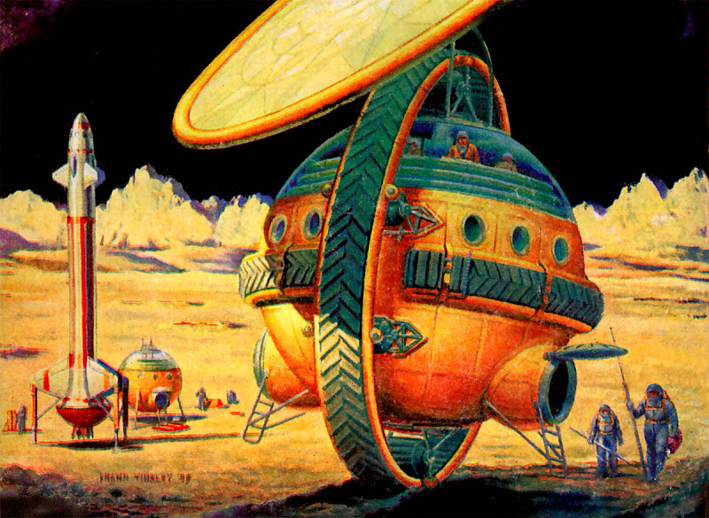Frank Tinsley Lunar Unicycle, in Colour