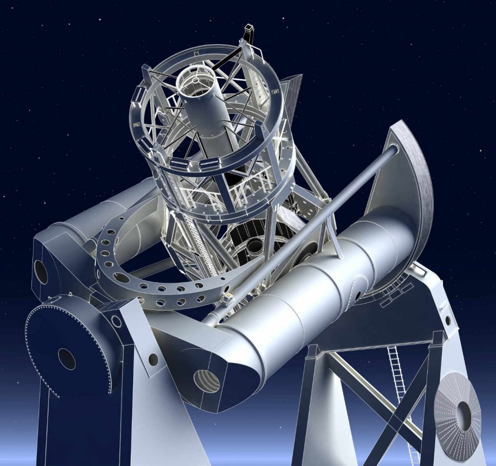 Hale Telescope Edge Render