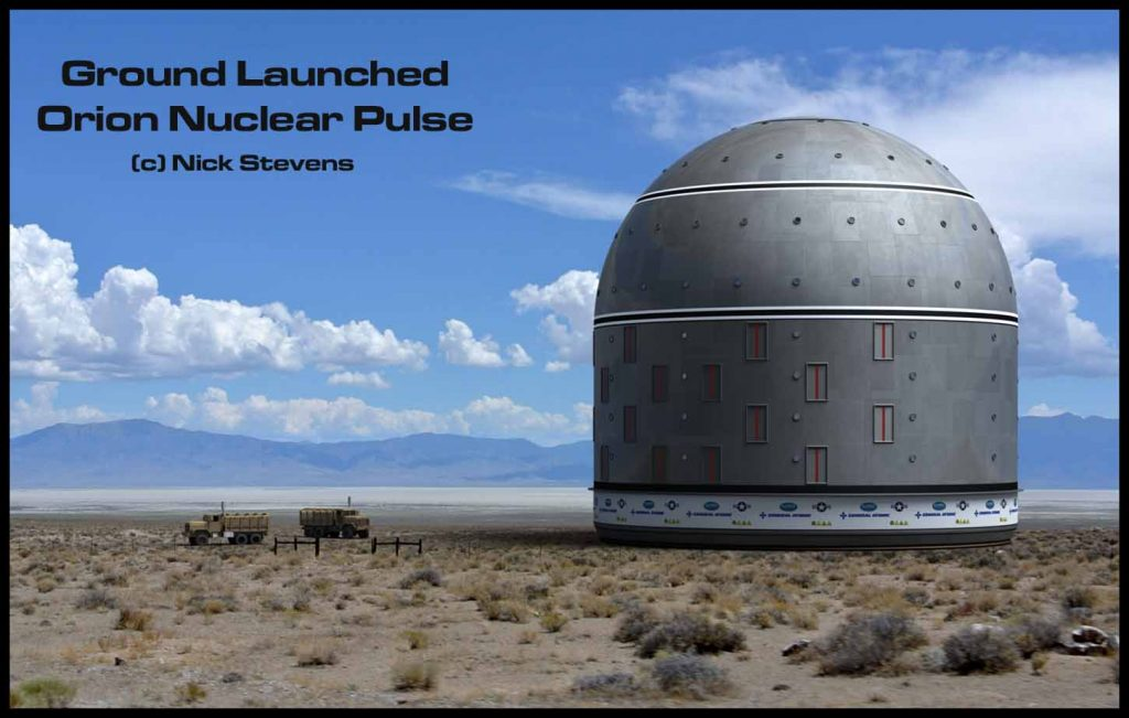 Ground Launch Orion Nuclear Pulse