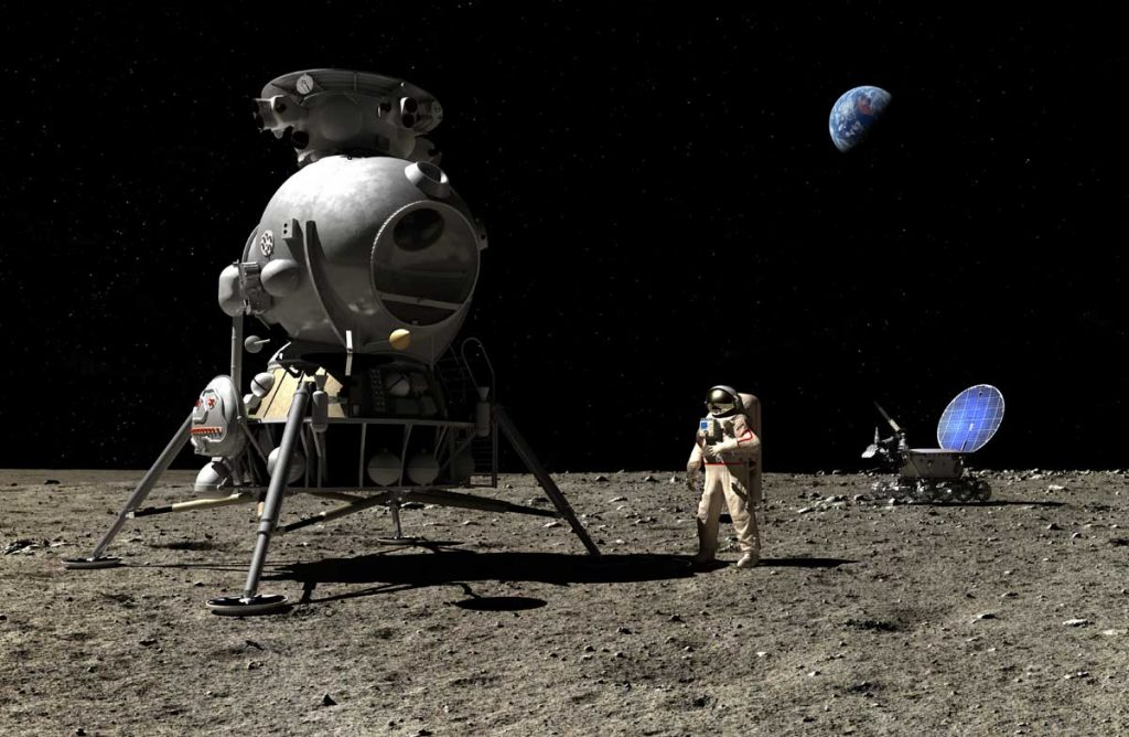 A cosmonaut on the Moon