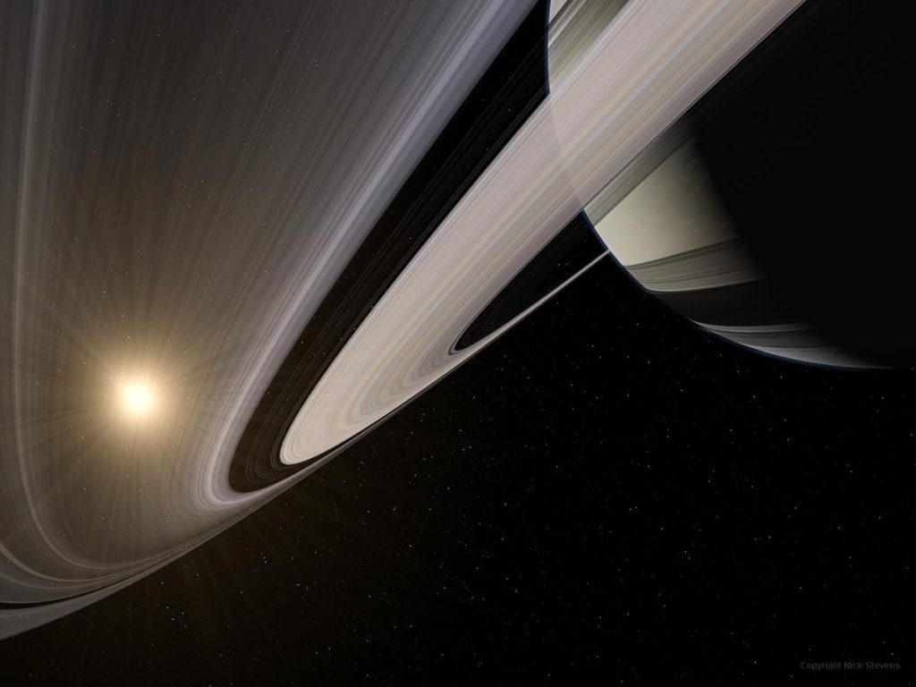 Saturn under the rings
