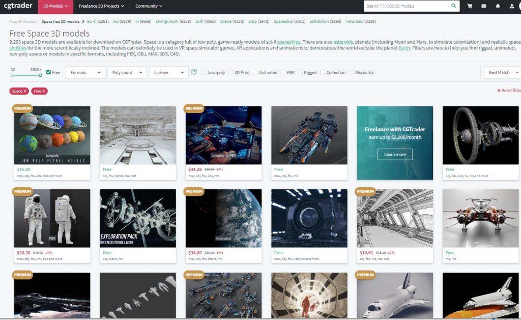 CG Trader web site
