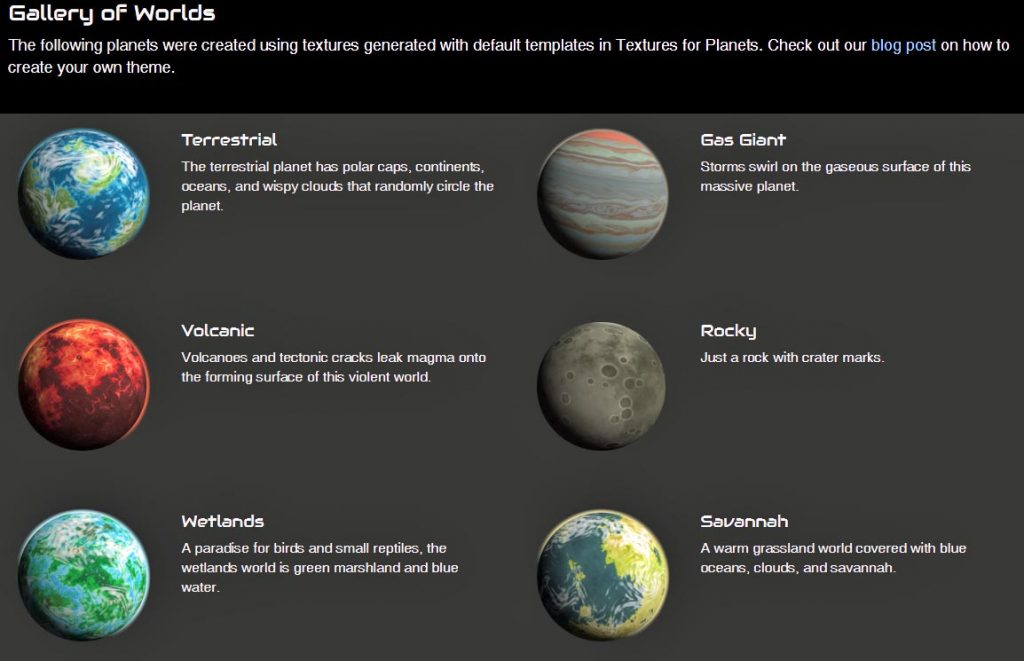 Textures for Planets