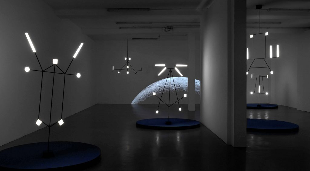 Nick Stevens Moon video at Milan Design Week, 2019