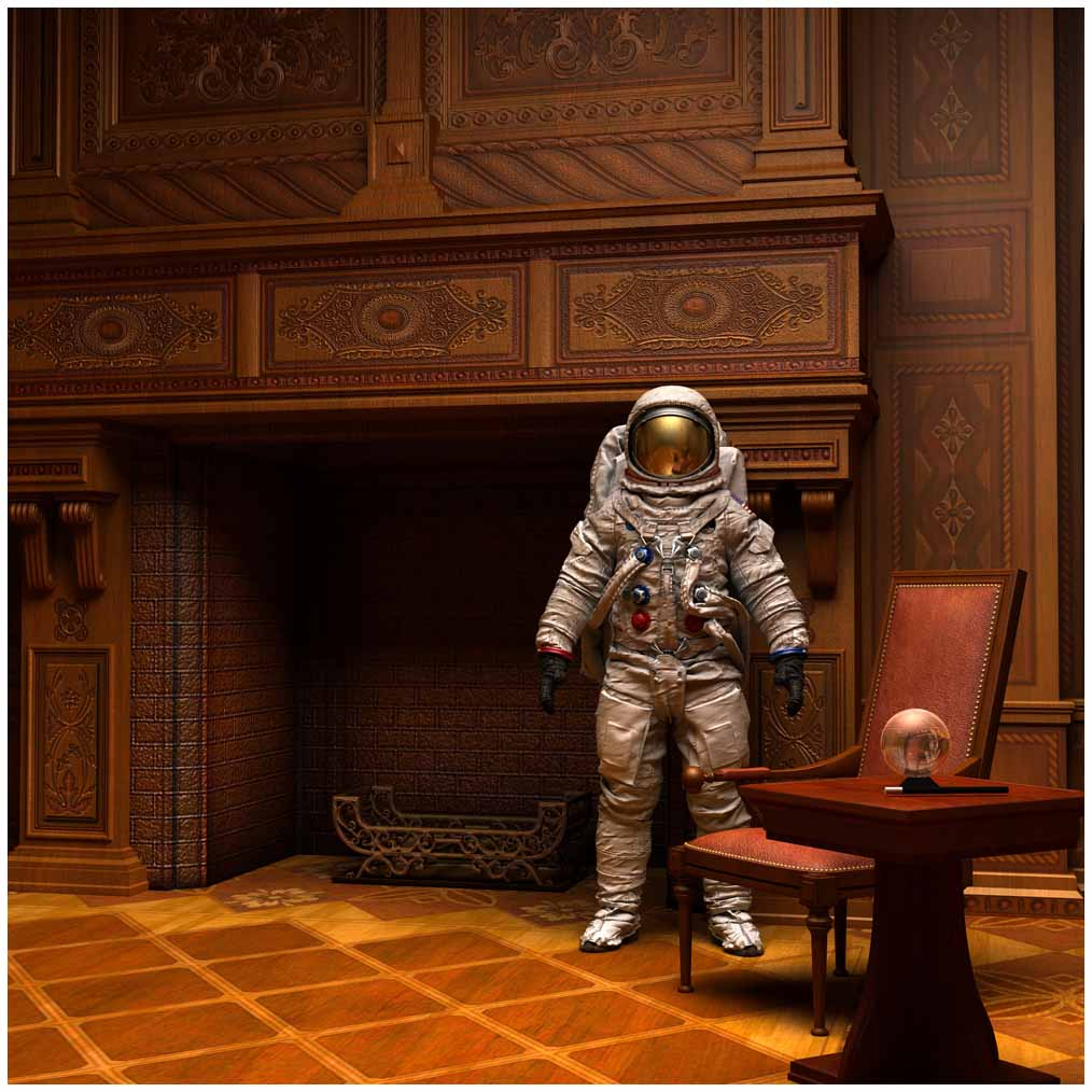 Astronaut in the study.