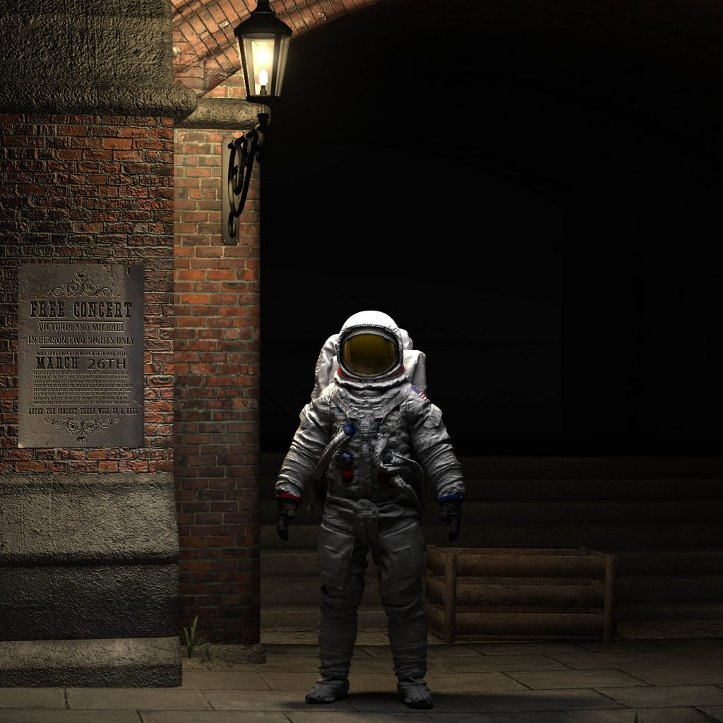 Apollo astronaut in Victorian London