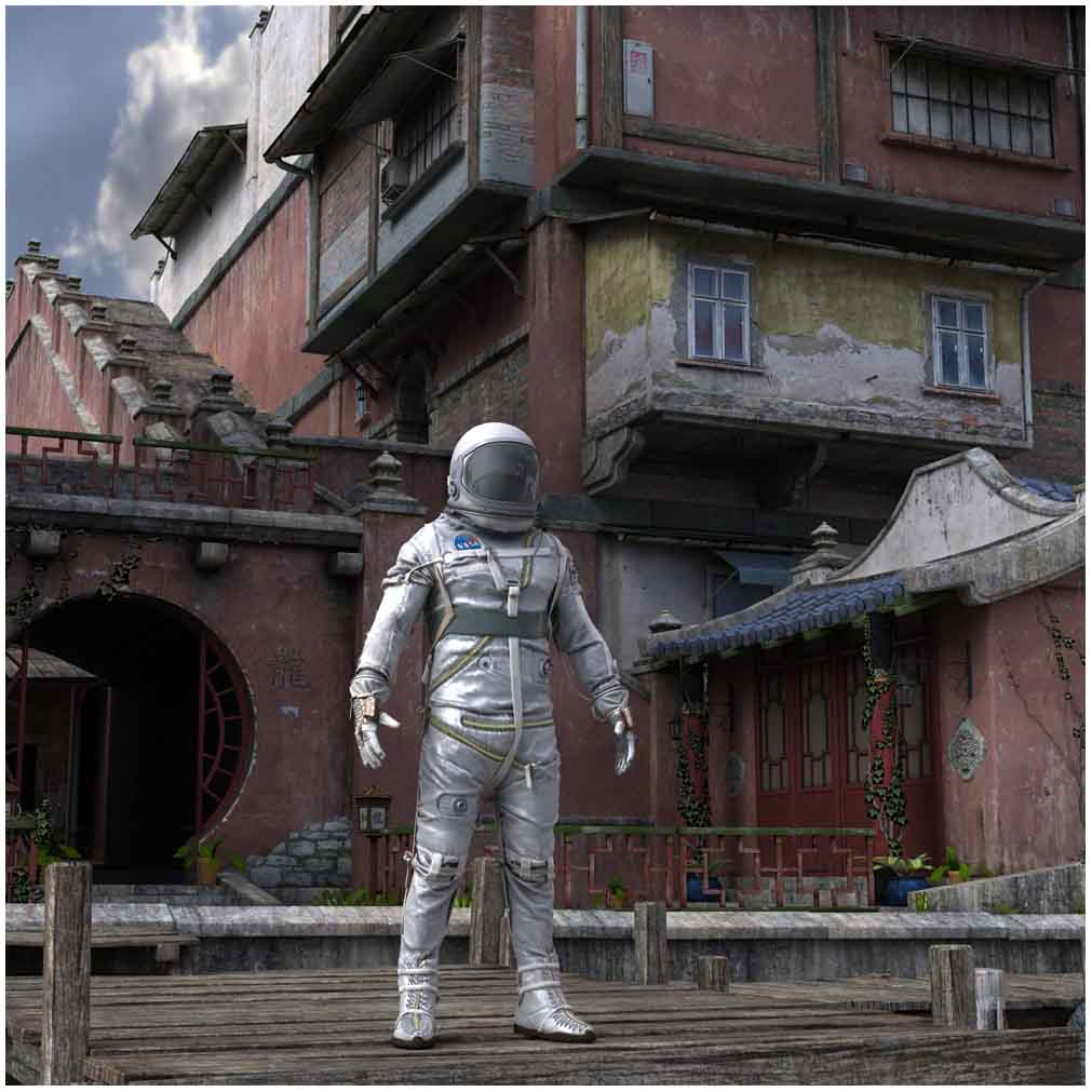 Mercury astronaut in Japanese setting