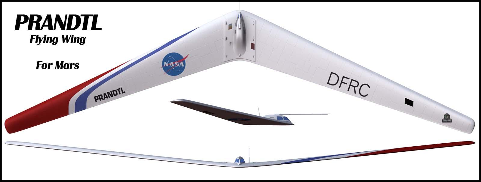 Nasa Prandtl Flying Wing For Mars Nick Stevens