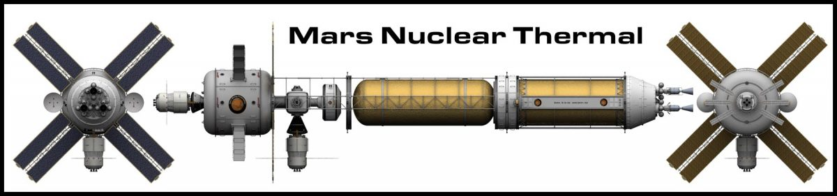 Mars manned nuclear thermal spacecraft perspective free