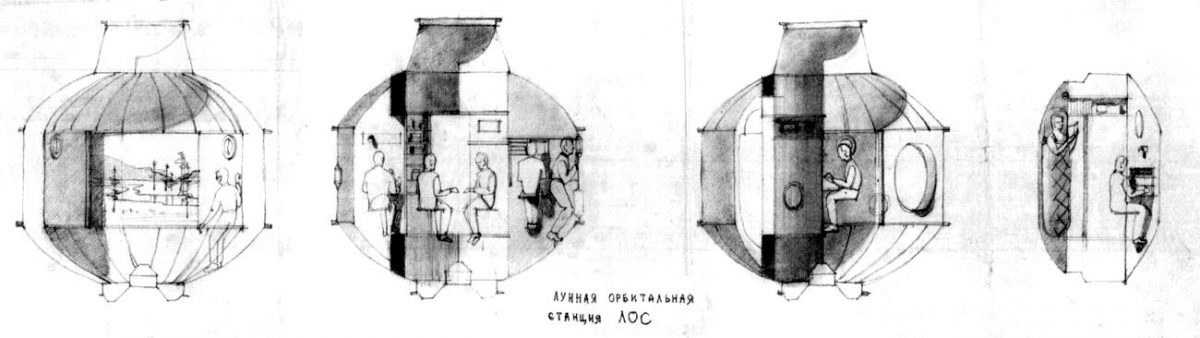 Soviet Manned Lunar Craft Designs