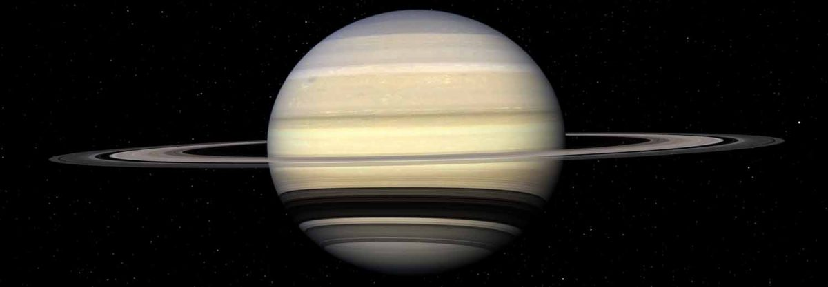 Orbiting the planet Saturn, in ultra high definition