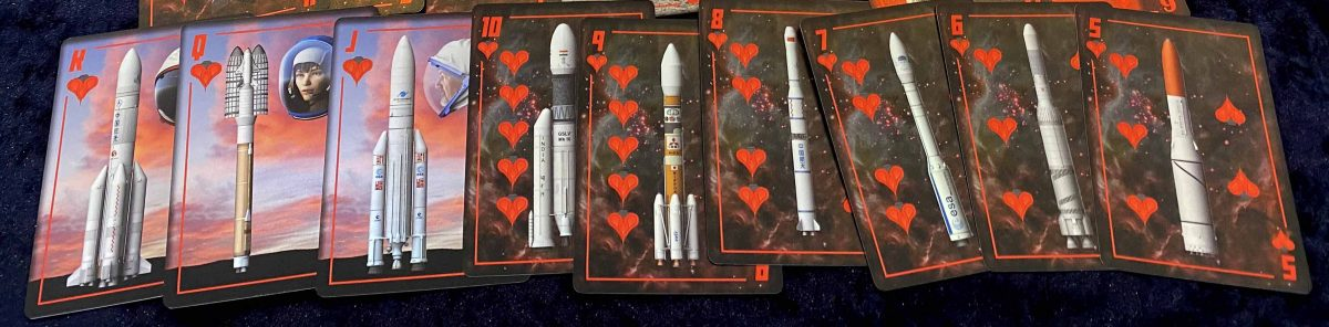 Strip of spacecraft playing cards